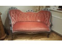 French style rococo sofa vintage