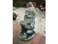 Genuine Traditional Stone Old Fisherman Garden Gnome