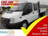 2014 14 FORD TRANSIT TIPPER DOUBLE CAB 350 LWB 1-WAY 1-STOP 125PS DIESEL
