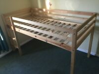 Child's cabin bed and fitted mattress. Smoke free home. Can deliver