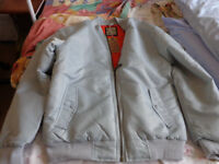 Soul Star Silver/Grey bomber jacket