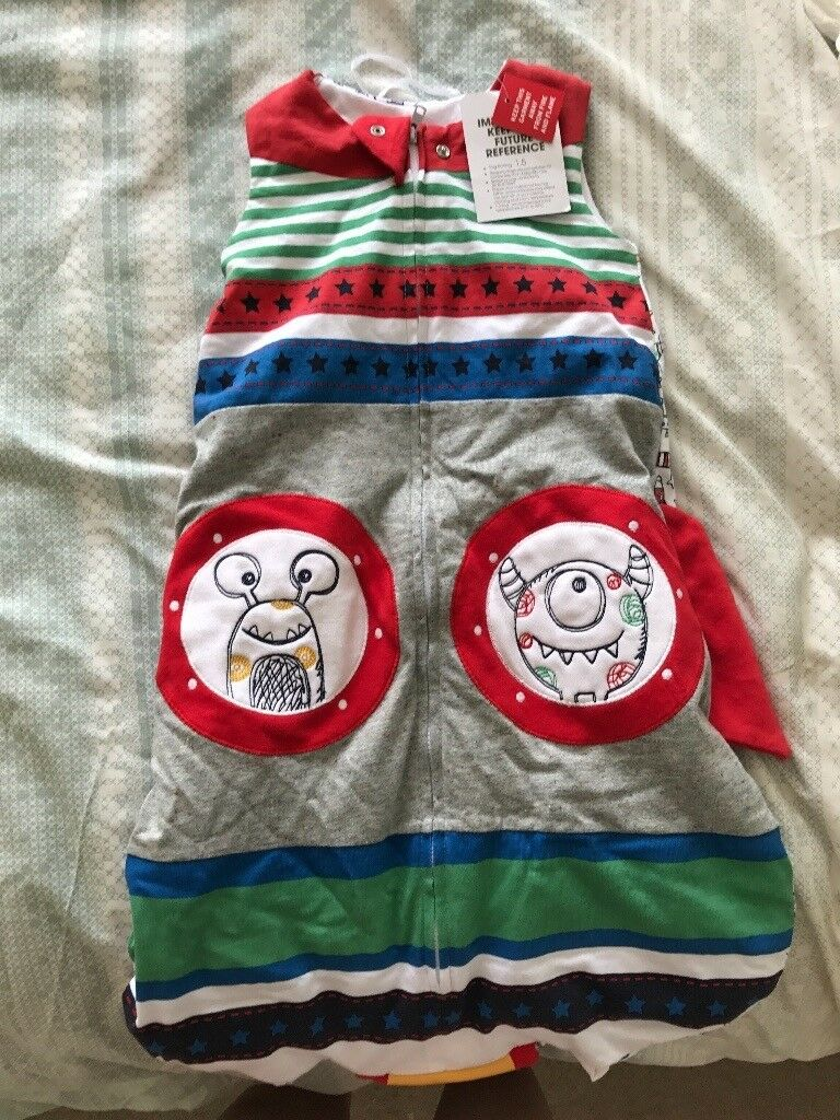 New with tags boys 0-6 month sleeping bag, TU Sainsbury's