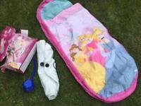 Disney princess ready bed sleeping camping travel bed boxed