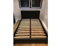 x 2 faux leather double bed frames - 2 for £90 or 1 for £50 - EXCELLENT CONDITION!!