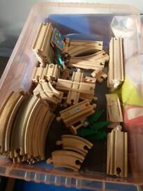 Wooden Train Track Plus extras