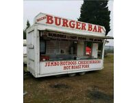 15 ft twin griddle catering trailer / burger van