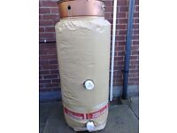 Copper Hot Water Tank, Jacket, Immersion Elements and Thermostat