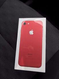 Iphone 7 256gb RED SEALED UNLOCKED