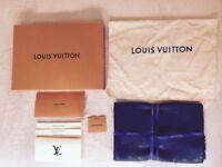 Genuine Louis Vuitton Chale / Shawl / Scarf, Monogram anthracite, box, receipt, rrp £375, mint