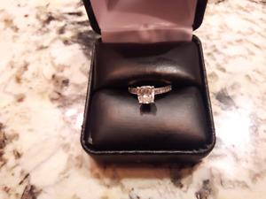 1.1 karat carat engagement ring white gold