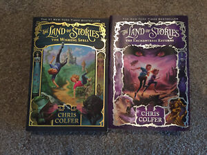 Land of Stories books 1 & 2