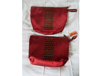 Two Silk Handwoven Zipped Bags from Cambodia
