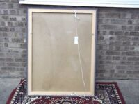 Large bevelled glass / framed wall mirror