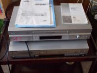 Samsung DVD Player Recorder Combo with VHS Recorder & Player