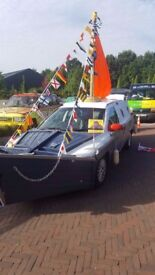 Banger Rally Car, Charity car Rally - Boat Car