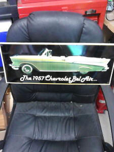 Older 57 Chev Tin Sign - 22 inches long