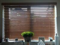 Wooden Blind 56 x 37.5 wide slats