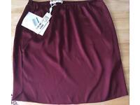 Brand new Designer Dorothea Schumacher natural silk skirt red/cherry plus gift Lancome lipstick