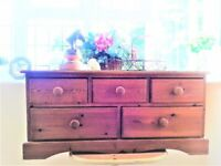 Vintage Pine Low Chest of Drawers