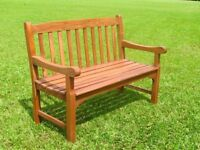 York 2 Seat Wooden Garden & Patio Bench (Brand New & Boxed)