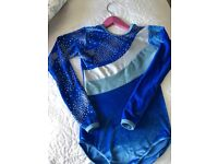 GORGEOUS BLUE METALLIC LEOTARD FROM TAPPERS & POINTERS SIZE 3