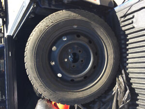 195/65/R15 Winter rims and tires 5 bolt $300 obo