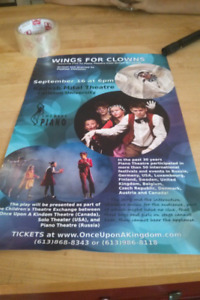 Wings for clowns show