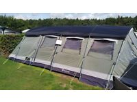 Outwell Vermont L 6 person family tent.good water tight condition with roof protector and carpet