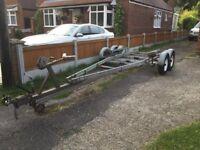 4 wheel braked trailer boat trailer