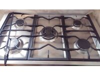 5 Hob Cooker with 1 large oven - Black & Silver