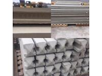 6ft Reinforced Concrete Fence Posts