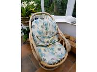 2 bamboo conservatory chairs