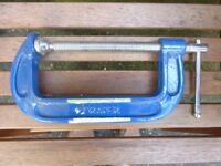 "150mm Draper Heavy Duty ""G"" Clamps, Type 391G (6 off available)"