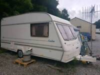 1996 YEAR CARAVAN BAILEY 2/3 BERTH WITH AWNING AND FULL EQUIPMENT