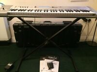 Korg Triton LE Workstation 61-key + Bespeco Hard Case + Stand + Footswitch Pedal; synth / piano