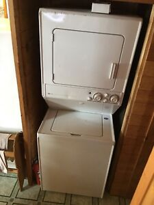"Stacked washer and dryer(propane). ""Commercial Grade"""