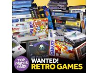***WANTED - ALL TYPS OF OLD & RETRO GAMES AND GAME CONSOLES **** Needs for charity project