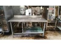 Selection of stainless steel tables