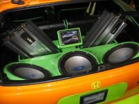 Professional car stereo and electronics installation service.
