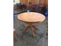 Wood dinning table and chairs