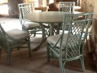 Large conservatory table & 4 chairs ex condition £60 Ono