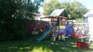 Kids outdoor play center