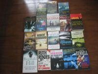 18 assorted crime novels
