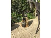 Rustic Water Feature with pump