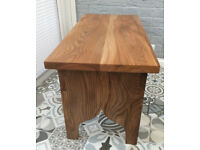 Handmade Stool or Small Coffee Table made from Elm