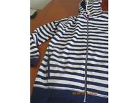 Navy and white hoody size 18