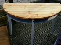 Half moon ocassional table