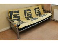 Double sized Futon. Metal Frame