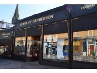 Sales Assistant - House of Henderson Kilts - Stirling - Part Time (Must work Saturdays)
