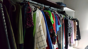 Moving clothing sale.